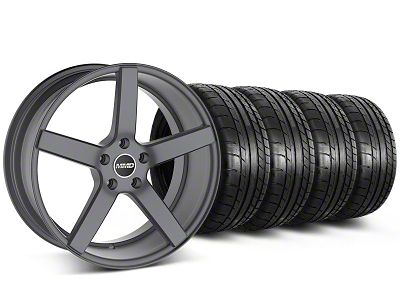 Staggered MMD 551C Charcoal Wheel & Mickey Thompson Tire Kit - 20x8.5/10 (05-14 All)