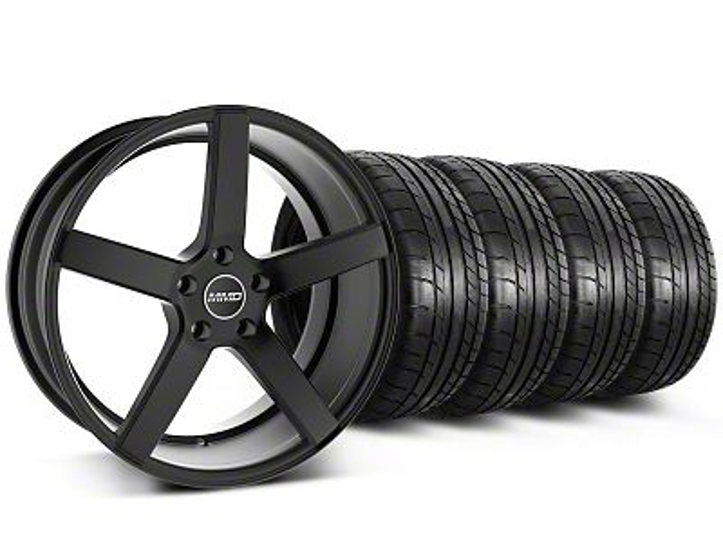 Staggered MMD 551C Black Wheel & Mickey Thompson Tire Kit - 20x8.5/10 (05-14 All)