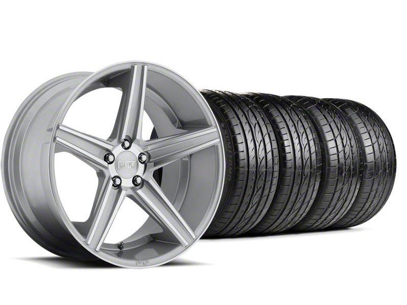 Staggered Niche Apex Machined Silver Wheel & Sumitomo Tire Kit - 20x8.5/10 (05-14 All)