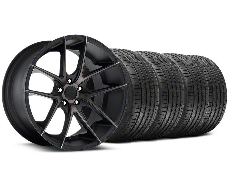 Staggered Niche Targa Black Wheel & Sumitomo Tire Kit - 20x8.5/10 (05-14 All)