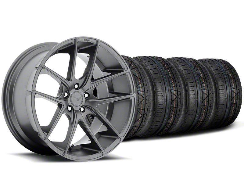 Staggered Niche Targa Matte Anthracite Wheel & NITTO INVO Tire Kit - 20x8.5/10 (05-14 All)