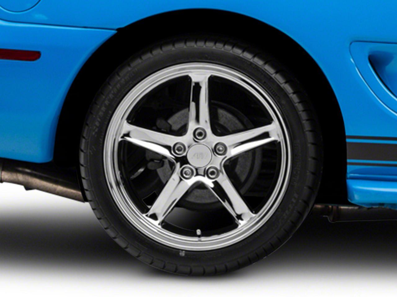 Deep Dish 1995 Cobra R Style Chrome Wheel - 18x10 - Rear Only (94-04 All)