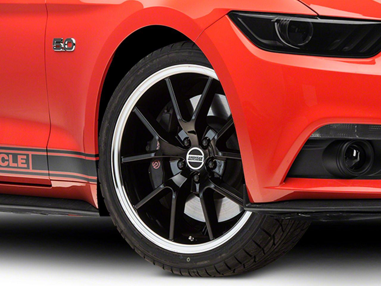 FR500 Style Black Wheel - 20x8.5 (15-19 GT, EcoBoost, V6)