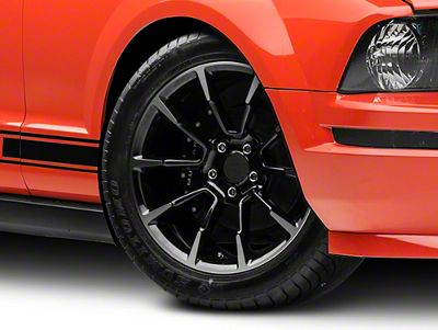 11/12 GT/CS Style Black Machined Wheel - 18x9 (05-14 GT, V6)