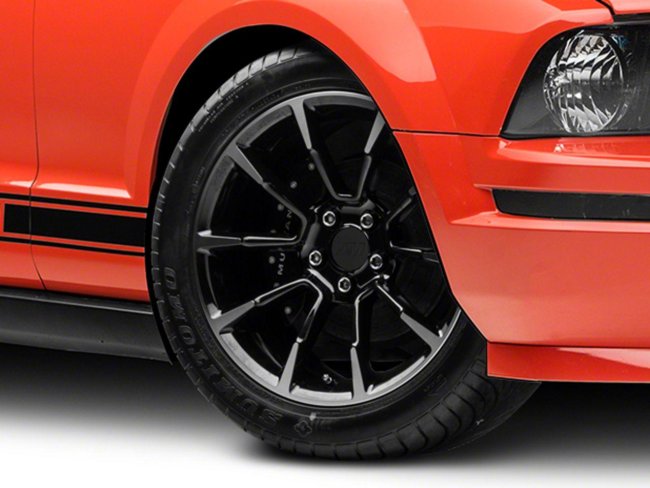 11/12 GT/CS Style Black Machined Wheel - 18x9 (05-14 GT, V6)