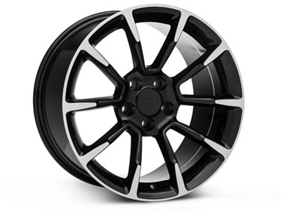 11/12 GT/CS Style Black Machined Wheel - 18x10 - Rear Only (05-14 GT, V6)