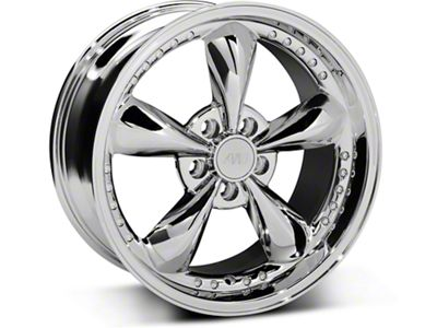 Bullitt Motorsport Chrome Wheel - 18x9 (87-93 w/ 5 Lug Conversion)
