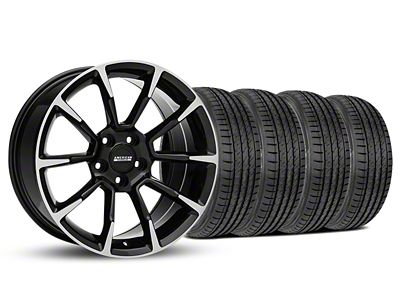 11/12 GT/CS Style Black Machined Wheel & Sumitomo Tire Kit - 19x8.5 (05-14 All)