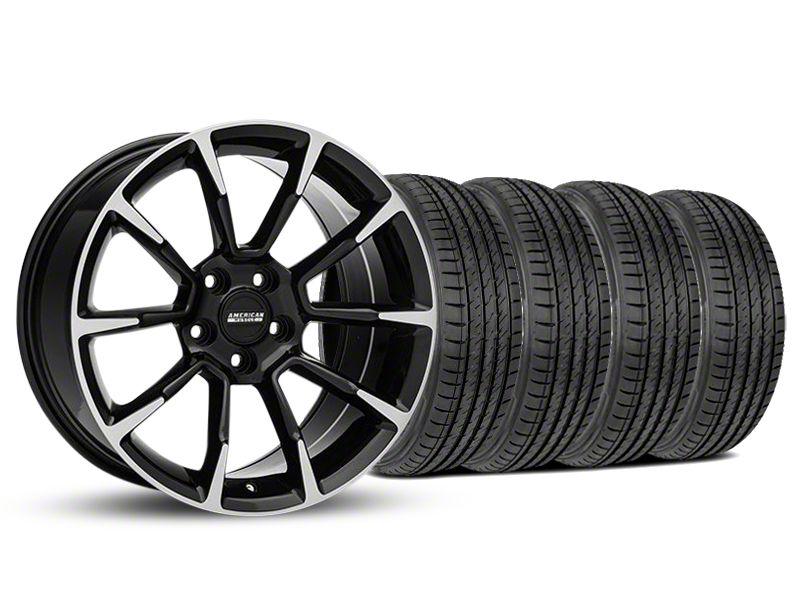 11/12 GT/CS Style Black Machined Wheel & Sumitomo Tire Kit - 19x8.5 (05-14 All)