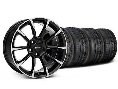Staggered 11/12 GT/CS Style Black Machined Wheel & NITTO INVO Tire Kit - 19x8.5/10 (05-14 All)