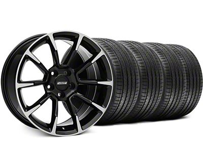 Staggered 11/12 GT/CS Style Black Machined Wheel & Sumitomo Tire Kit - 18x9/10 (99-04 All)