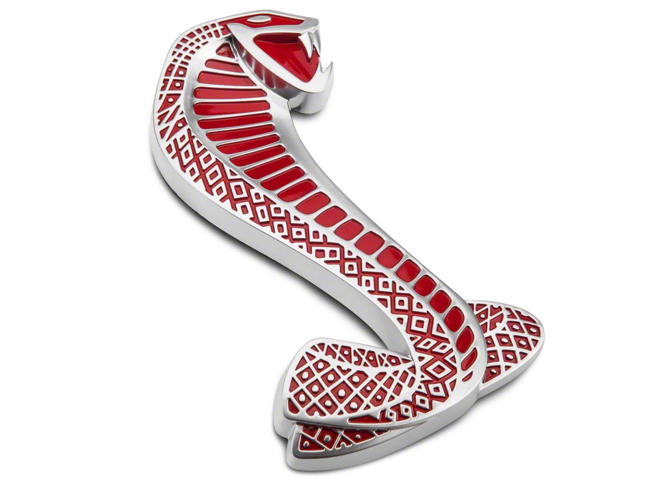 Ford Red GT500 Cobra Snake Fender Emblem - Right Side (07-14 GT500)