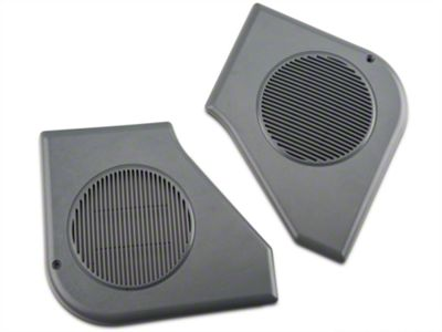 OPR Door Speaker Grille Kit - Smoke Gray (87-89 All)