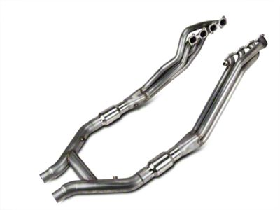 Stainless Works 1-7/8 in. Long Tube Headers & High Flow Catted H-Pipe Kit (07-10 GT500)