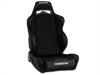 Corbeau LG1 Racing Seat - Black Microsuede - Pair (79-19 All)