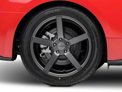 Vossen CV3-R Graphite Wheel - 19x10 - Rear Only (15-19 Standard GT, EcoBoost, V6)