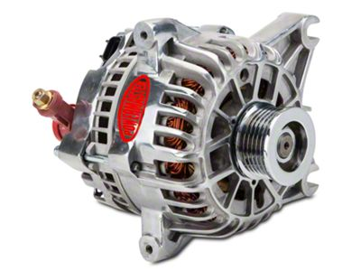 Powermaster Alternator - 110 Amp Polished (99-04 GT)