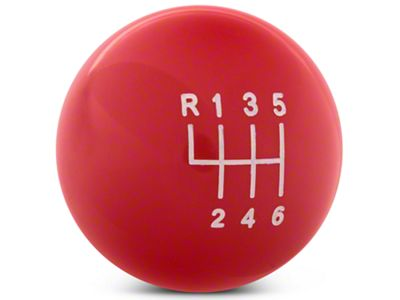 Modern Billet Retro Style 6-Speed Shift Knob - Red (11-14 GT, V6)