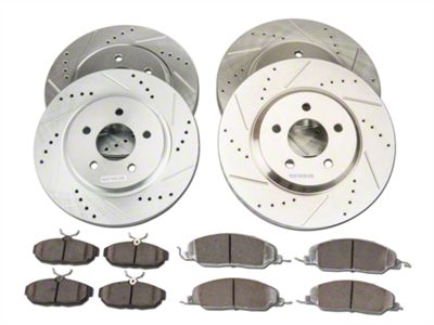 Power Stop Z26 Street Warrior Brake Rotor & Pad Kit - Front & Rear (05-10 GT)
