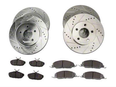 Power Stop Z26 Street Warrior Brake Rotor & Pad Kit - Front & Rear (05-10 V6)