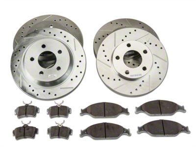 Power Stop Z26 Street Warrior Brake Rotor & Pad Kit - Front & Rear (94-04 Cobra, Bullitt, Mach 1)