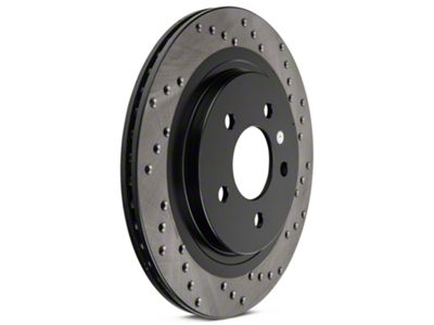 StopTech Sport Cross-Drilled Rotors - Rear Pair (05-14 All, Excluding 13-14 GT500)