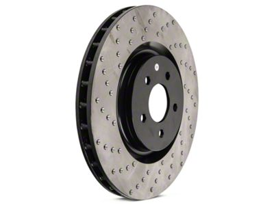 StopTech Sport Cross-Drilled Rotors - Front Pair (11-14 GT Brembo; 12-13 BOSS 302; 07-12 GT500)