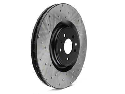 StopTech Sport Cross-Drilled Rotors - Front Pair (13-14 GT500)
