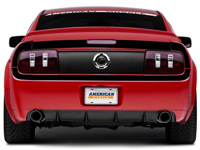American Muscle Graphics Gloss Black Rear Surround Decal - Upper & Lower (05-09 All)
