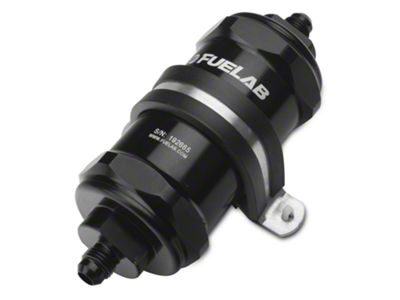 Fuelab In-Line Fuel Filter - 6 micron fiberglass / 6AN (79-19 All)