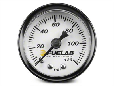 Fuelab Fuel Pressure Gauge - 1.5 in. (86-19 All)