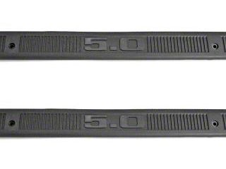 Scott Drake Mustang 5.0 Door Sill Plates - Gray (79-93 All)