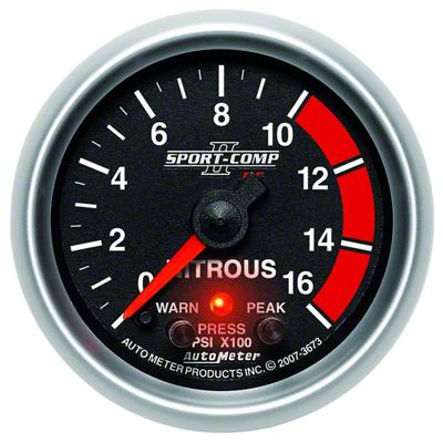 Auto Meter Sport Comp II Nitrous Pressure Gauge - Electric (79-17 All)