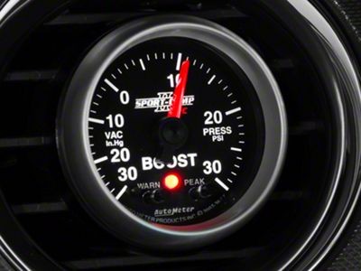 Auto Meter Sport Comp II Boost/Vac Gauge w/ Warning Light - Electrical (79-19 All)
