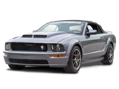 Modern Billet Retro-Style Tri-Bar Pony Billet Grille - Black (05-09 GT)