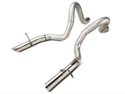 Flowmaster 3 in. Tailpipes w/ Stainless Tips (87-93 LX; 1986 GT)