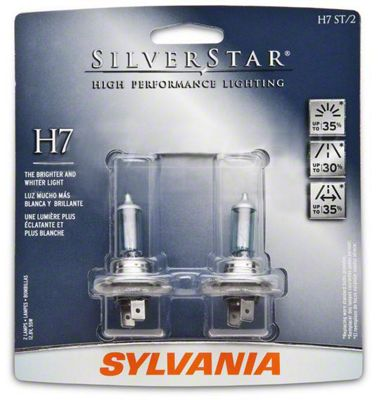 Sylvania Silverstar Headlight Bulbs - H7 (99-09 w/ Aftermarket Headlights)