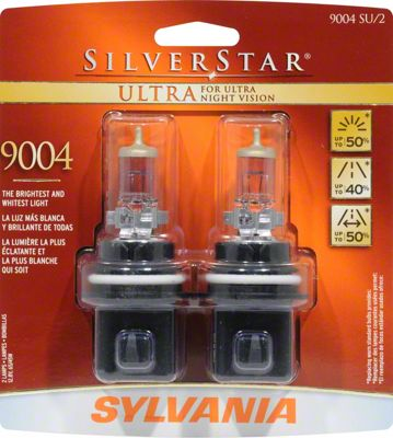 Sylvania Silverstar Ultra Headlight Bulbs - 9004 (87-93 All)