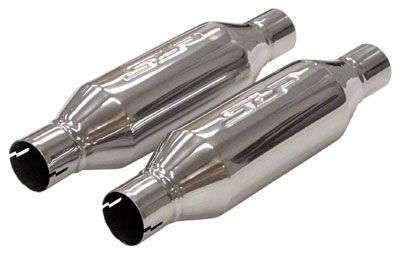 SLP Loudmouth II Center/Center Bullet Style Mufflers - 2.5 in. - Pair (Universal Fitment)