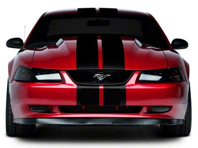 American Muscle Graphics Black Lemans Stripes - 8 in. (94-04 All)