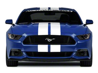American Muscle Graphics White Lemans Stripes - 8 in. (15-19 All)