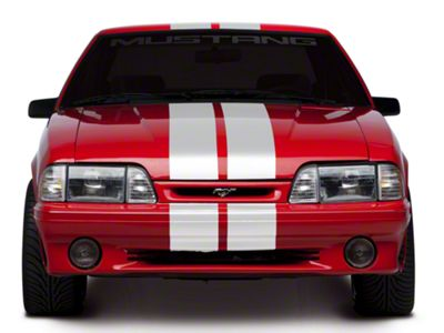 American Muscle Graphics White Lemans Stripes - 8 in. (79-93 All)