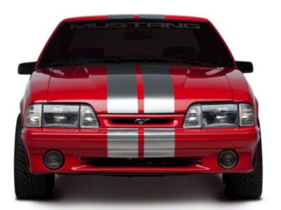 American Muscle Graphics Silver Lemans Stripes - 8 in. (79-93 All)