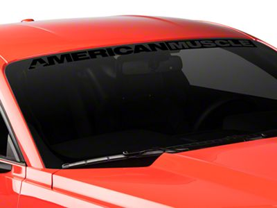 American Muscle Graphics AmericanMuscle Windshield Banner - Black (15-19 All)