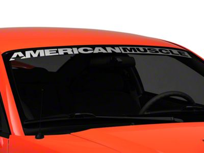 American Muscle Graphics AmericanMuscle Windshield Decal - Silver (94-04 All)