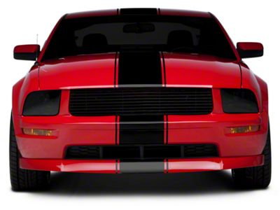 American Muscle Graphics Black Super Snake Style Stripe Kit (05-14 All)