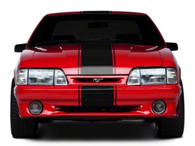 American Muscle Graphics Black Super Snake Style Stripe Kit (79-93 All)
