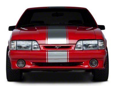 American Muscle Graphics Silver Super Snake Style Stripe Kit (79-93 All)