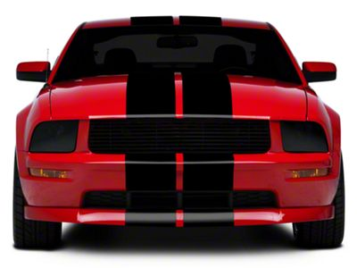 American Muscle Graphics Black GT500 Style Stripes - 10 in. (05-14 All)