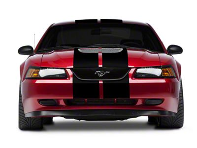American Muscle Graphics Black GT500 Style Stripes - 10 in. (94-04 All)